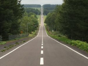 中標津-地平線まで続く道
