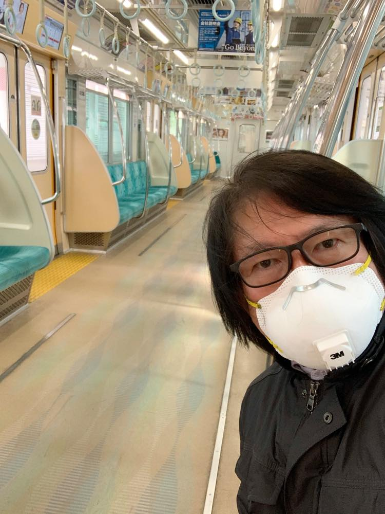 緊急事態宣言中の都内の電車
