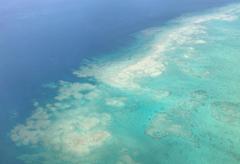 沖縄上空のフライト