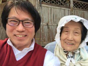 里山で出会ったおばあちゃん